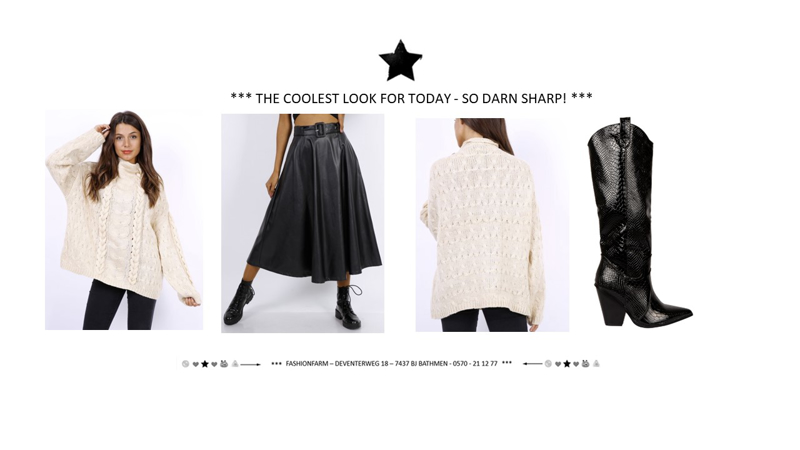 *** THE COOLEST LOOK FOR TODAY - SO DARN SHARP! ***
