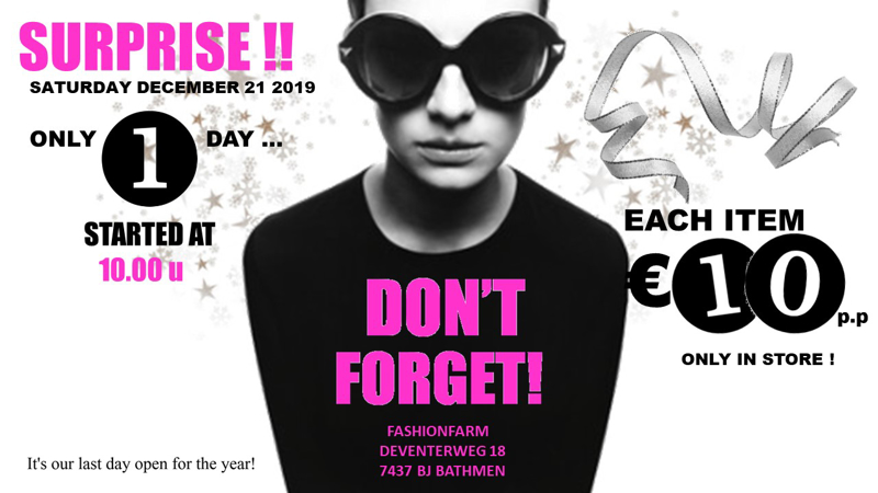 *** DON'T FORGET! ***