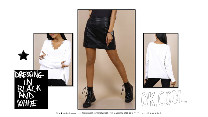 *** DRESSING IN BLACK AND WHITE ***