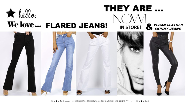 *** WE LOVE ... FLARED JEANS ! ***