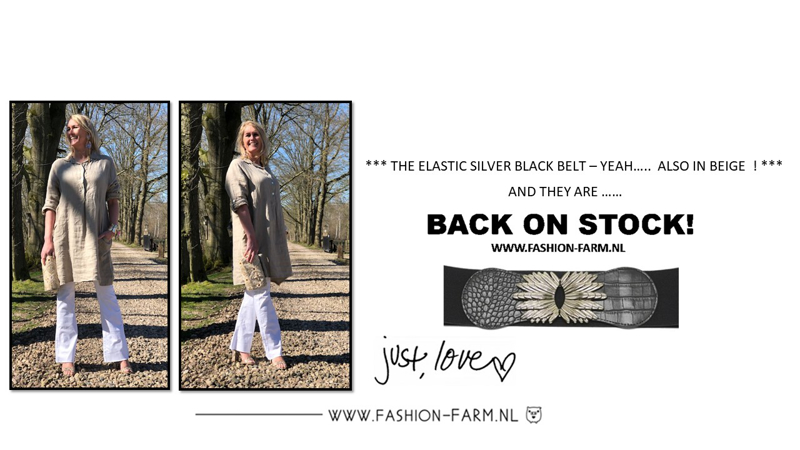 *** THE ELASTIC SILVER BLACK BELT - YEAH ... ALSO IN BEIGE! AND THEY ARE .... BACK ON STOCK! ***