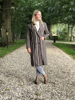 Afbeelding van STRIPED COAT BROWN