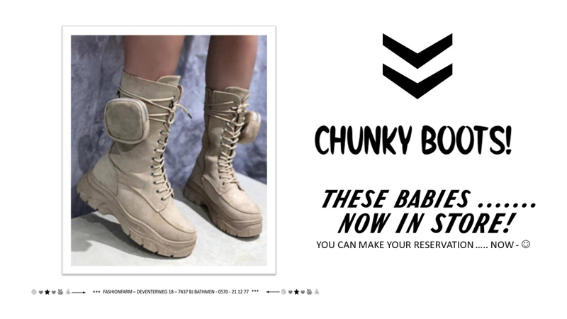 *** CHUNCKY BOOTS ***